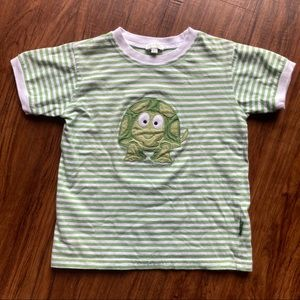 Le top striped turtle ringer tee size 4t